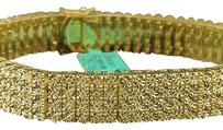 Mens,4,Row,Yellow,Gold,Finish,2.50,Ct,Yellow,Diamond,Bracelet,Link,Tennis,Fanook