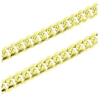 Miami Cuban Necklace 10k Real Yellow Gold Inches Classy Celeb Wear