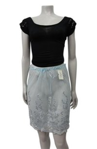 Other Elspeth Gibson London Sheer Lace Scallop Saks 5th Ave Mini Skirt Blue