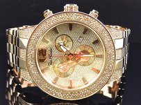 Mm Jojinojoe Rodeo Aqua Master Rose Gold Steel Band Diamond Watch 5ct Jrbr13