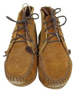 Other Minnetanka Womens Moccasin Suede Brown Flats