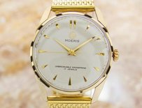 Moeris Mens Swiss Made Vintage Manual Gold Plated 1960s Dress Watch Jr19