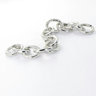 Other Monica Rich Kosann Bracelet Floral Smooth Links Sterling Silver