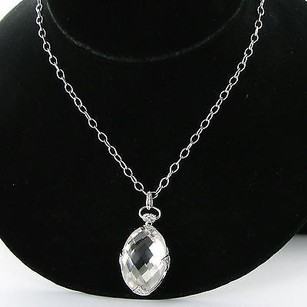Other Monica Rich Kosann Necklace Rock Crystal Locket White Sapphires 925
