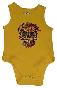 Other NEW BOUTIQUE Rocker SKULL Tattoo TANK RIBBED ONESIE Great Gift Sz 9 month baby girl