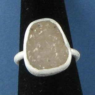 Other Nina Nguyen Bedford Ring Pale Sand Druzy Sterling Silver