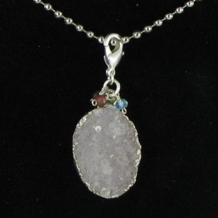 Nina Nguyen Galaxy Pendantenhancer White Druzy 925 Silver Tiny Beads