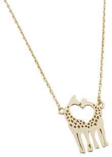 NWOT Love giraffe dainty necklace in gold
