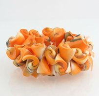 Other Orange Shell Bracelet -stretchy Beaded Wide Fashion Jewelry Womens Beach Summer