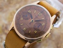 Other Original Swiss Jumbo Rose Gold Chronographe Suisse 18k Gold 1940 Watch D122