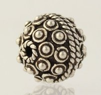 Other Ornate Beaded Ball Charm - Sterling Silver 925 Jewelry Making Findings Bali