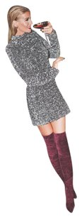 Other Over The Knee Slim Fit Stiletto Burgundy Boots