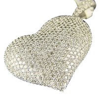 Other 14k White Gold Diamond Puffed Heart Pendant 2.0 Ct