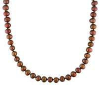 Other Freshwater Brown Chocolate Pearl Endless Necklace 9.5-10 Mm 36