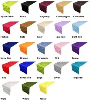 Delicieux Other Pintuck Table Runners Assorted Colors Tablecloth