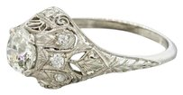 Platinum 1.17ct Old European Cut EGL Certified Diamond Filigree Engagement Ring