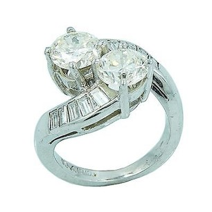 Platinum 1.68ct I Vs2 Diamond Ring Grams Ring