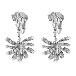 Other Platinum 2.00ct Diamond Fan Drop Earrings