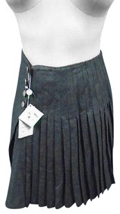 Other Janet Brown Charcoal Wool Casual Pleated Above Knee 5922a Skirt Gray