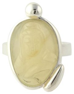 Other Quartz Statement Ring - 925 Sterling Silver Madonna Womens Cream