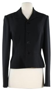 Ralph Lauren Black Label Womens Black Blazer Med Wool Jacket