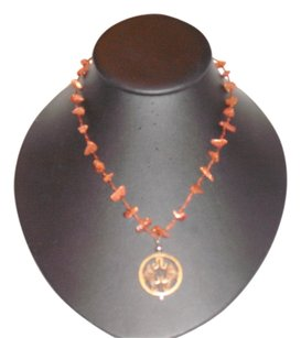 Other Reddish Brown Eye-Tooth Pendant Necklace