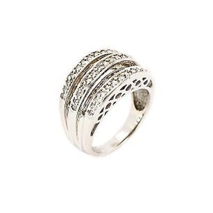 Other Ring 14k White Gold 1.15 Ct Round Shape J Si2 Grams Womens