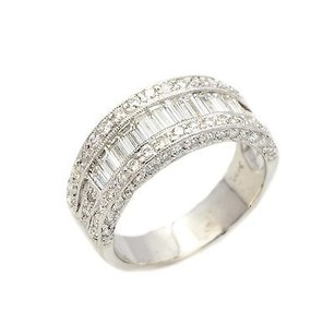 Other Ring 14k White Gold 1.53 Ct Baguette Diamond G Vs1 7.6 Grams Womens