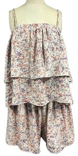 Other Prose Poetry Spaghetti Strap Abstract Tiered 2094a Dress