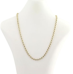 Rope Chain Necklace 20 - 14k Yellow Gold Womens