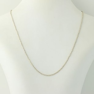 Rope Chain Necklace - Sterling Silver 925 Italy 18 1.5mm Womens