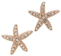 Other Rose Gold Starfish Stud Earrings