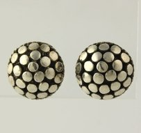 Round Bead Earrings - Sterling Silver 925 Stud Pierced Womens 11.4mm Polished