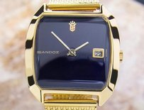 Sandoz Mens Swiss Made Retro Style Vintage Manual 1970s Dress Watch Tk4