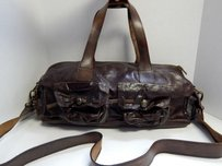 Bekaloo Leather East Satchel in Brown