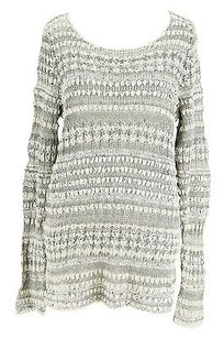 Other Inc Internional Concepts Womens Scoop Neck Striped Cotton Sweater