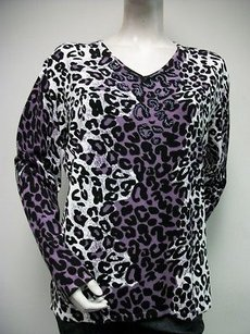 Other Reyna Bead Accented Animal Print 1x Sweater