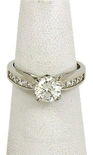 Scott Kay Platinum Diamonds Solitaire With Accent Ring Mounting Only
