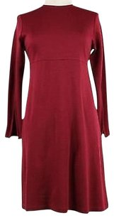 Other Morgane Le Fay York Womens Solid Wool Blend Sheath Dress