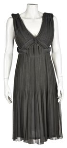 Other Alberta Ferretti Womens Gray Sleeveless Evening Formal Dress