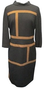 Other short dress black, brown Accent Sleeves Mock Neck Lined Sma 9603 on Tradesy