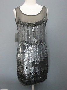 short dress silver, black, gray A B Allen Schwartz Collection on Tradesy