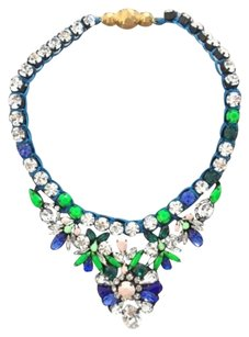 Shourouk Statement Piece Necklace Mint Box Blue