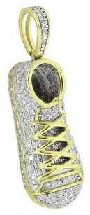 Sneaker Shoe Pendant 10k Real Yellow Gold Micro Pave Genuine Diamonds 1.2 Mens