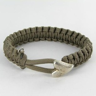 Other Soldier To Soldier Bracelet Sand Parachute Cord 925 Silver Heart 20cm7.8