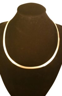 Solid Sterling Silver Omega Collar 14.5 Inches