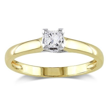Other 14k Gold 14 Ct Princess Diamond Solitaire Ring Gh I1i2 Igl Certification