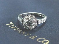 Tiffany Co Platinum 1.23ct Gvvs2 .22ct Accent Diamond Embrace Engagement Ring