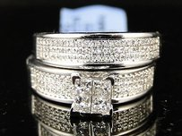 Ladies Bridal Engagement Diamond Bridal Ring Set .61 Ct
