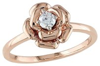 10k Pink Gold 17 Ct Diamond Tw Fashion Ring Gh I2-i3